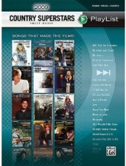 2009 Country Superstars Sheet Music Playlist For Piano Vocal Chords Book