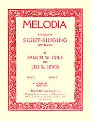 Melodia A Comprehensive Course In Sight-Singing(Solfeggio)