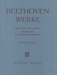 Cadenzas in the Piano aConcertos (Beethoven Complete Edition, Abteilung VII, Vol. 7 Paperbound)