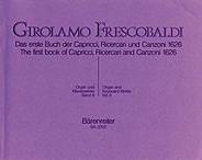 Das erste Buch der Capricci, Ricercari und Canzoni von 1626 (12 Capricci, 10 Ricercare, 5 Canzonen).
