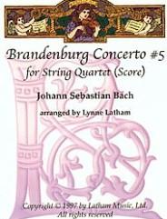 Brandenburg Concerto #5 for String Quartet