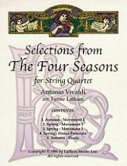 Selections from The Four Seasons for String Quartet by Antonio Vivaldi. String ensemble. For string quartet (with optional violin).