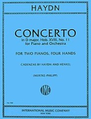 Concerto in D major, Hob. XVIII: No. 11 for Piano & Orchestra (with Cadenzas