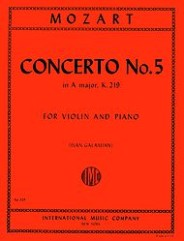 Concerto No. 5 in A major, K. 219 (with Cadenzas by Joseph Joachim)