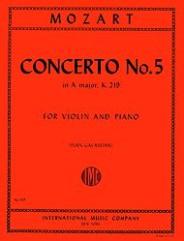 Concerto No. 5 in A major, K. 219 (with Cadenzas by Joseph Joachim)