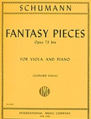 Fantasy Pieces, Opus 73 by Robert Schumann. Edited by Leonard Davis. For viola and piano.