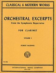 Orchestral Excerpts From Classical And Modern Works, Volume I - CLARINET