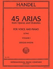 45 Arias from Operas and Oratorios - for Voice and Piano (Low)