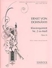 Piano Quintet No. 2, Op. 26. (Score and Parts)