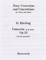Oskar Rieding: Concerto In B Minor Op.35 (Cello And Piano)